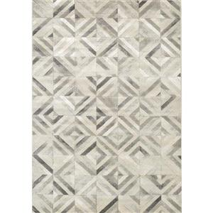 Alaska Grey/White Diamond Squares Rug