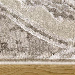 Kalora Alaska Distressed Ovals Rug - 5' x 8' - Grey