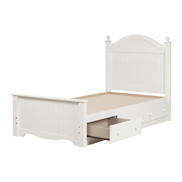 South S Furniture Savannah Panel, White Twin Storage Bed Canada