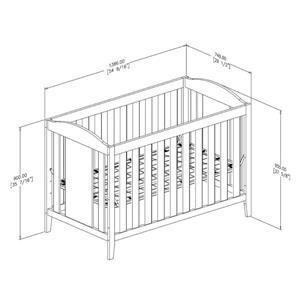 South Shore Furniture Angel 29.5-in x 54.5-in x 37.5-in Espresso Crib
