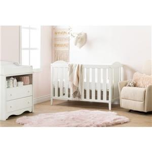 South Shore Furniture Angel 29.5-in x 54.5-in x 37.5-in Pure White Crib