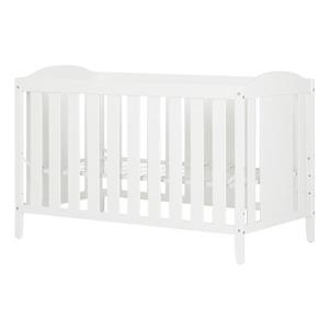 South Shore Furniture Reevo 29.5-in x 54.5-in x 37.5-in Pure White Crib