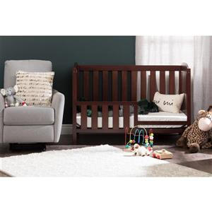 South Shore Furniture Angel 29.5-in x 54.5-in x 37.5-in Royal Cherry Crib