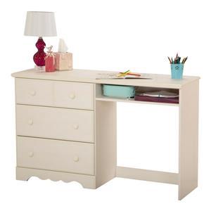 South Shore Furniture Summer Breeze 3-drawer White Wash Desk