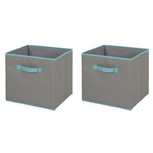 South Shore Furniture 11.25-in x 12.72-in  Crea Fabric Storage Bins (2 Pack)