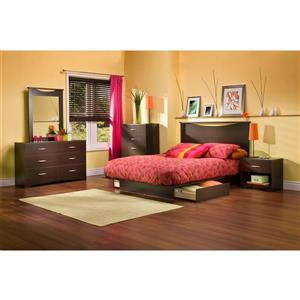 South Shore Furniture Chocolate Brown Step One Mirror