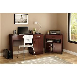 South Shore Furniture Axess Royal Cherry Microwave Cart on Wheels