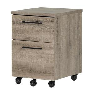 South Shore Furniture Weathered OakMunich 2-Drawer File Cabinet