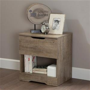 South Shore Furniture Holland 1- Drawer Weathered Oak Nightstand