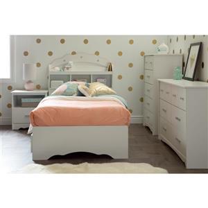 South Shore Furniture Tiara  1- Drawer Nightstand White