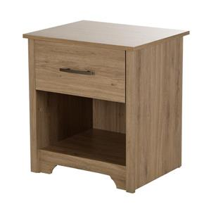 South Shore Furniture Fusion 1-Drawer Rustic Oak Nightstand