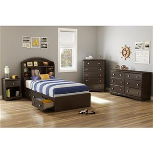 South Shore Furniture Morning Dew  1- Drawer Nightstand Brown