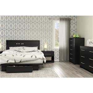 South Shore Furniture Primo 1-Drawer Nightstand - Black