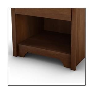 South Shore Furniture Vito 1-Drawer Sumptuous Cherry Nightstand