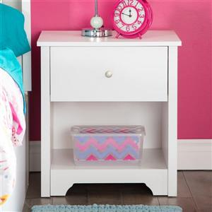 South Shore Furniture Vito 1-Drawer Nightstand White