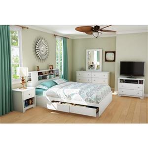 South Shore Furniture Vito 1-Drawer Nightstand White