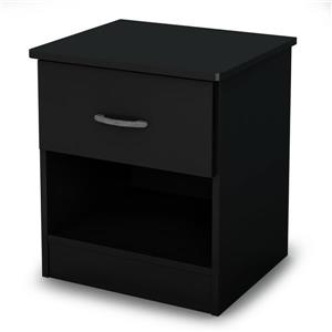 South Shore Furniture Libra  1- Drawer Nightstand Black