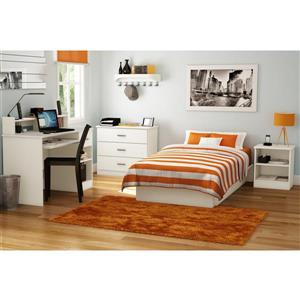 South Shore Furniture Libra Pure White Nightstand with Storage