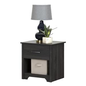 South Shore Furniture Fusion 1-Drawer Grey Nightstand