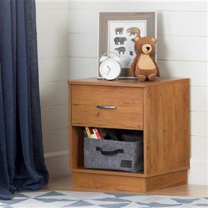 South Shore Furniture Logik 1-Drawer Country Pine Nightstand
