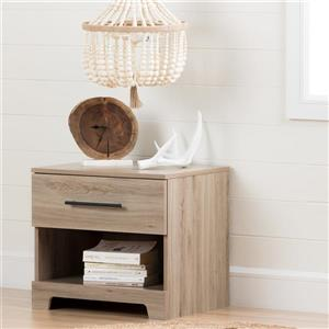 South Shore Furniture Primo 1-Drawer Rustic Oak Nightstand