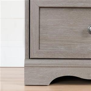 South Shore Furniture Savannah 1-Drawer Grey Marble Nightstand