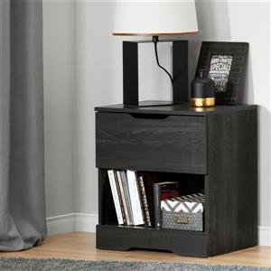South Shore Furniture Holland 1- Drawer Grey Oak Nightstand