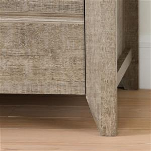 South Shore Furniture Lionel 2-Drawer Weatherd Oak Nightstand