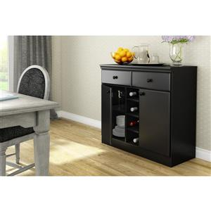 South Shore Furniture Morgan Pure Black Sideboard