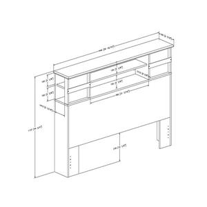South Shore Furniture Lazer 47.75-In x  57.00-In Bookcase Full Black Onyx Headboard
