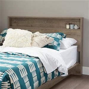 South Shore Furniture Holland 40.60-In x 60.50-In Full/Queen Weathered Oak Headboard