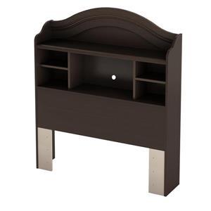 South Shore Furniture Savannah Espresso Twin Bookcase Headboard