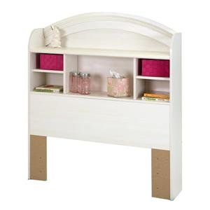 South Shore Furniture Country Poetry 48.00-In x 41.00-In White Bookcase Headboard