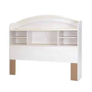 South Shore Furniture Country Poetry  47.95-In x 55.98-In White Bookcase Headboard