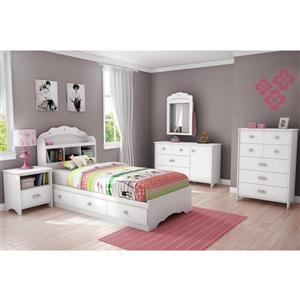 South Shore Furniture Tiara White Twin Bookcase Headboard