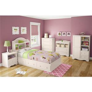South Shore Furniture Savannah White Twin Bookcase Headboard