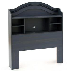 South Shore Furniture Summer Breeze Blueberry Twin Bookcase Headboard