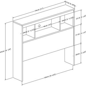 South Shore Furniture Spark White Twin Bookcase Headboard