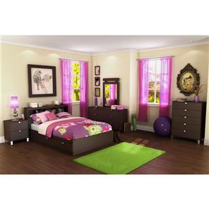 South Shore Furniture Spark Chocolate Full Bookcase Headboard
