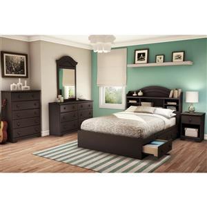South Shore Furniture Summer Breeze Chocolate Full Bookcase Headboard