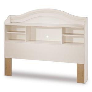 South Shore Furniture Summer Breeze White Full Bookcase Headboard