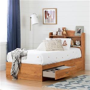South Shore Furniture Logik 41.75-In x 41.00-In Twin Country Pine Bookcase Headboard