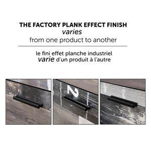 South Shore Furniture Fynn 44.00-In x 57.25-In Full Gray Oak and Factory Planks Effect Headboard