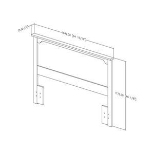 South Shore Furniture Fusion 46.00-In x 65.00-In Full/Queen Gray Oak  Headboard