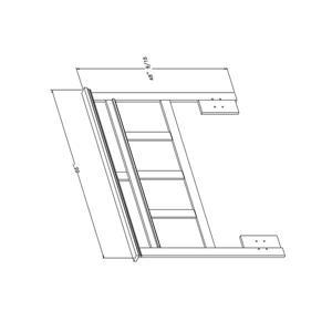 South Shore Furniture Versa Winter Oak Full/Queen Headboard