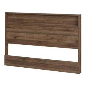 South Shore Furniture Holland 40.60-in x  60.50-in Full/Queen Natural Walnut Headboard