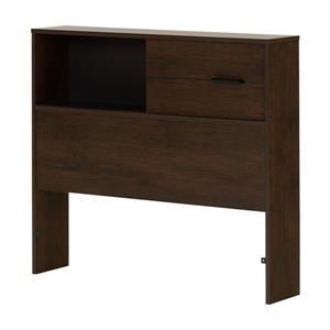 South Shore Furniture Fynn 36.25-In x 41.00-In Twin Brown Oak Headboard with Storage