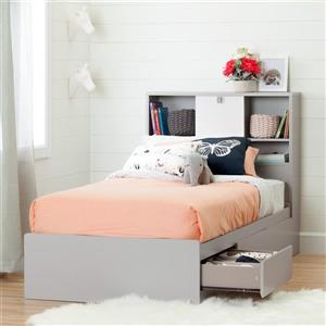 South Shore Furniture Cookie 43.50-In x  41-In Bookcase Headboard For Twin Bed