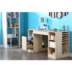 South Shore Furniture Crea Natural Maple Craft Table