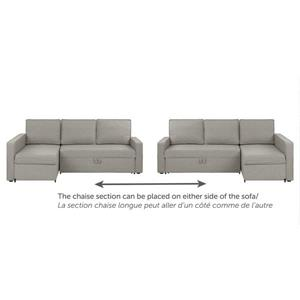 South Shore Furniture Live It Cozy Sectional Sofa and Bed with Storage